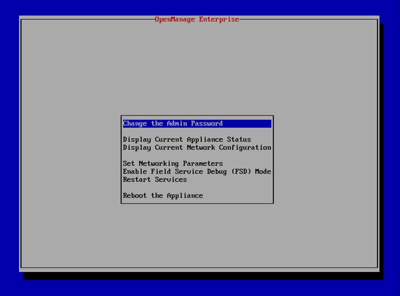 DELL OpenManage Enterprise软件配置