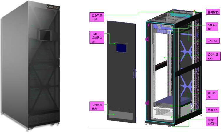 戴尔易安信智能微型数据中心一体柜