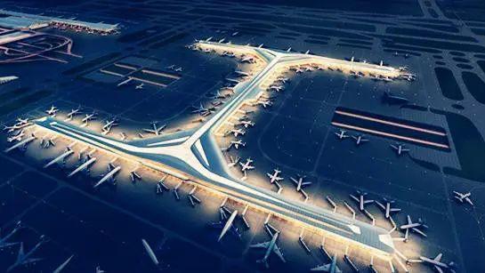 浦东机场卫星厅鸟瞰图